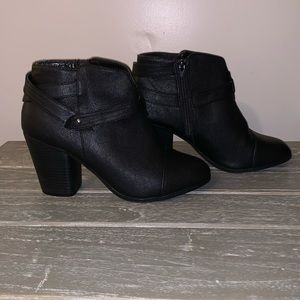 Lauren Conrad 'Bon Bon' black booties